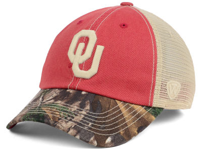Oklahoma Sooners Top of the World NCAA Camo 2 Snapback Cap