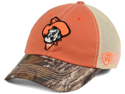 Oklahoma State Cowboys Top of the World NCAA Camo 2 Snapback Cap