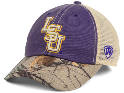 LSU Tigers Top of the World NCAA Camo 2 Snapback Cap