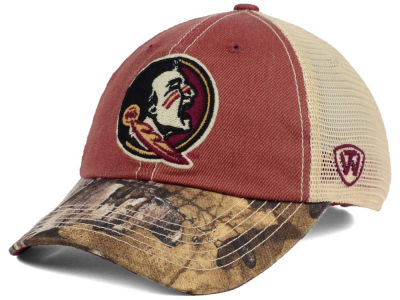 Florida State Seminoles Top of the World NCAA Camo 2 Snapback Cap