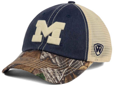 Michigan Wolverines Top of the World NCAA Camo 2 Snapback Cap