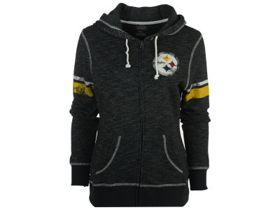 Pittsburgh Steelers Majestic NFL Women's Athletic Tradition Full Zip Hooded Sweatshirt