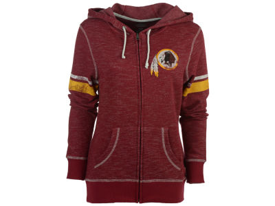 Washington Redskins Majestic NFL Women's Athletic Tradition Full Zip Hooded Sweatshirt