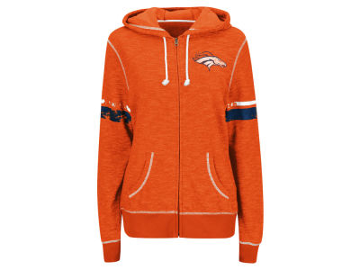 Denver Broncos Majestic NFL Women's Athletic Tradition Full Zip Hooded Sweatshirt