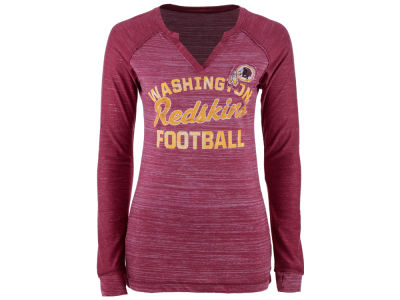 Washington Redskins Majestic NFL Women's Lead Play Long Sleeve T-Shirt