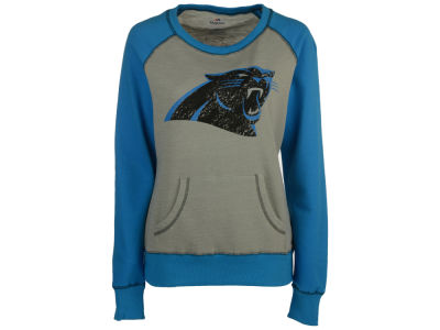 Carolina Panthers Majestic NFL Women's OT Queen Crew Sweatshirt
