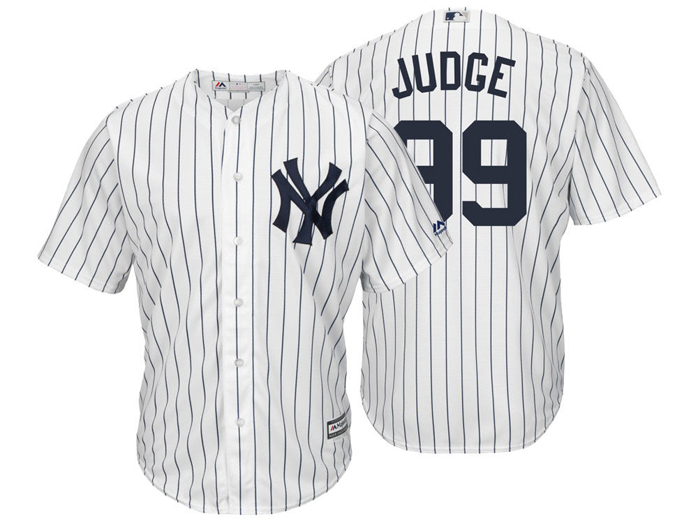 New York Yankees Aaron Judge Majestic MLB Men s Player Replica Cool Base  Jersey ec8adbb0a69