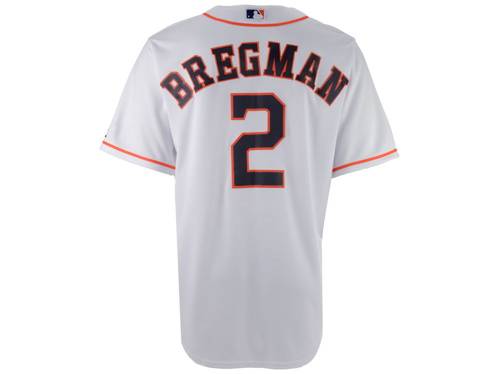 e542dde73 Houston Astros Alex Bregman Majestic MLB Men s Player Replica Cool Base  Jersey
