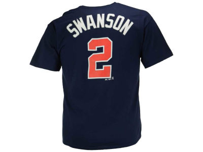Atlanta Braves Dansby Swanson Majestic MLB Men's Official Player T-Shirt
