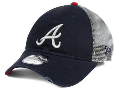 Atlanta Braves New Era MLB Rustic Trucker 9TWENTY Snapback Cap