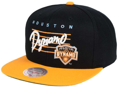Houston Dynamo Mitchell and Ness MLS Mithchell & Ness Script Snapback Cap