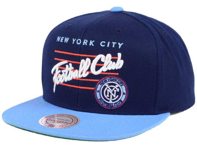 New York City FC Mitchell & Ness MLS Mithchell & Ness Script Snapback Cap