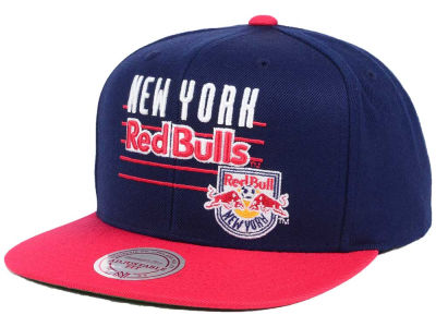 New York Red Bulls Mitchell & Ness MLS Mithchell & Ness Script Snapback Cap