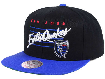 San Jose Earthquakes Mitchell and Ness MLS Mithchell & Ness Script Snapback Cap