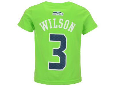 Seattle Seahawks Russell Wilson Outerstuff NFL Toddler Mainliner Player T-Shirt