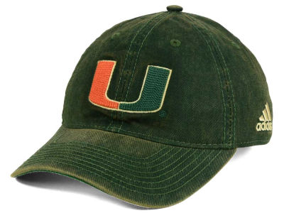 Miami Hurricanes adidas NCAA Over Dye Slouch Cap