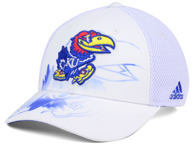 Kansas Jayhawks adidas NCAA Double Logo Adjustable Cap