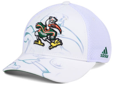 Miami Hurricanes adidas Sport NCAA Double Logo Adjustable Cap