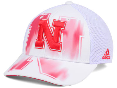 Nebraska Cornhuskers adidas NCAA Double Logo Adjustable Cap