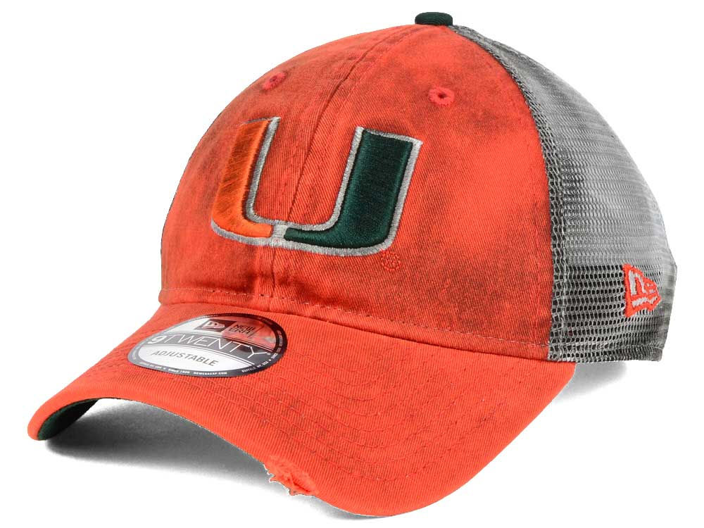 pretty nice 826f1 f7d53 ... coupon code for miami hurricanes new era ncaa team rustic 9twenty cap  fe717 b4a04