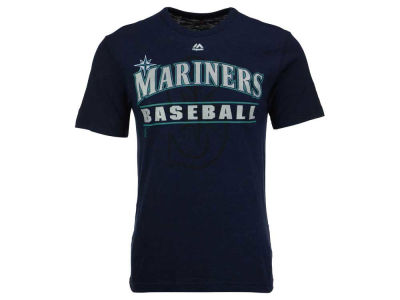 Seattle Mariners Majestic MLB Men's Bases Loaded Hyperslub T-Shirt