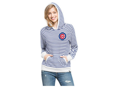 Chicago Cubs '47 MLB Women's Stripe Pullover Hoodie