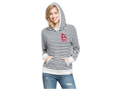 St. Louis Cardinals '47 MLB Women's Stripe Pullover Hoodie