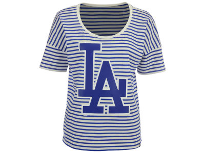 Los Angeles Dodgers '47 MLB Women's Coed Stripe T-Shirt