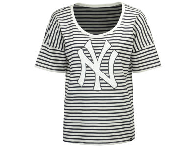 New York Yankees '47 MLB Women's Coed Stripe T-Shirt