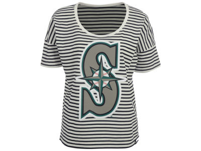 Seattle Mariners '47 MLB Women's Coed Stripe T-Shirt