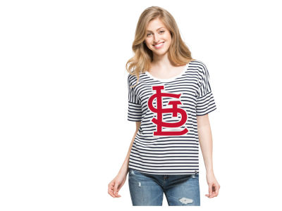 St. Louis Cardinals '47 MLB Women's Coed Stripe T-Shirt