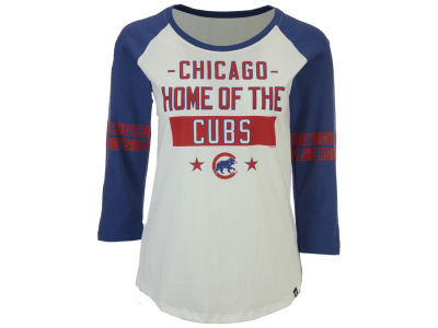 Chicago Cubs '47 MLB Women's Triple Crown Raglan T-Shirt