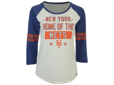 New York Mets '47 MLB Women's Triple Crown Raglan T-Shirt