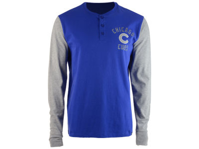 Chicago Cubs '47 MLB Men's Downfield Henley Long Sleeve T-Shirt