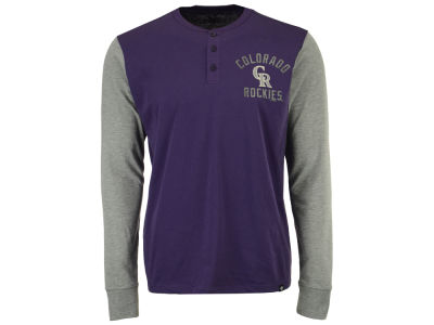 Colorado Rockies '47 MLB Men's Downfield Henley Long Sleeve T-Shirt