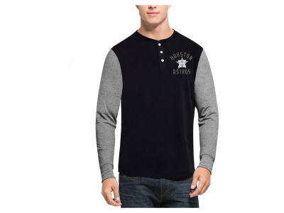 Houston Astros '47 MLB Men's Downfield Henley Long Sleeve T-Shirt