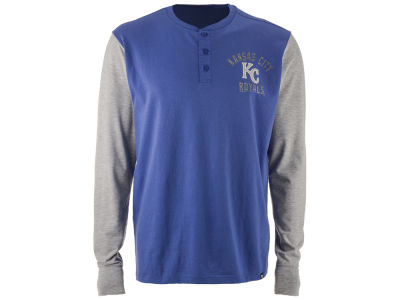 Kansas City Royals '47 MLB Men's Downfield Henley Long Sleeve T-Shirt