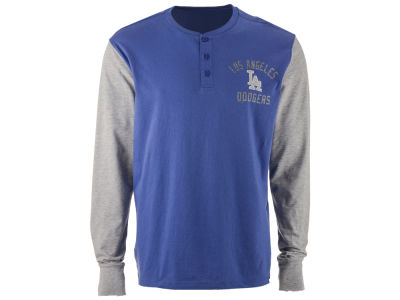Los Angeles Dodgers '47 MLB Men's Downfield Henley Long Sleeve T-Shirt