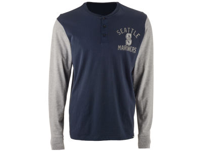 Seattle Mariners '47 MLB Men's Downfield Henley Long Sleeve T-Shirt