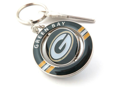 Green Bay Packers Team Spinner Keychain
