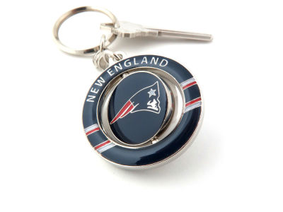 New England Patriots Team Spinner Keychain