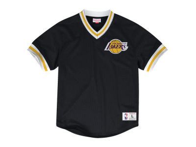 Los Angeles Lakers Mitchell & Ness NBA Men's V-Neck Mesh Jersey Top