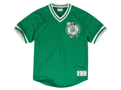 Boston Celtics Mitchell & Ness NBA Men's V-Neck Mesh Jersey Top