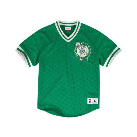 Boston Celtics Mitchell & Ness NBA Men's V-Neck Mesh Jersey Top