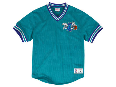 Charlotte Hornets Mitchell & Ness NBA Men's V-Neck Mesh Jersey Top