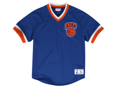 New York Knicks Mitchell & Ness NBA Men's V-Neck Mesh Jersey Top