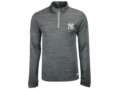 New York Yankees MLB Men's Poly Twist Mock Quarter Zip Pullover