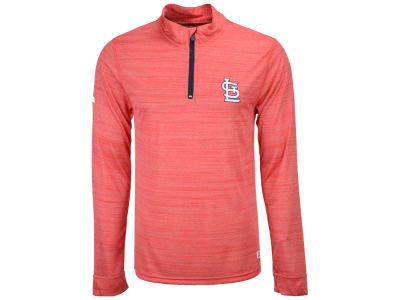 St. Louis Cardinals MLB Men's Poly Twist Mock Quarter Zip Pullover