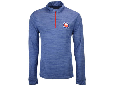 Chicago Cubs MLB Men's Poly Twist Mock Quarter Zip Pullover