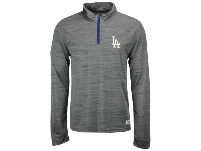 Los Angeles Dodgers MLB Men's Poly Twist Mock Quarter Zip Pullover